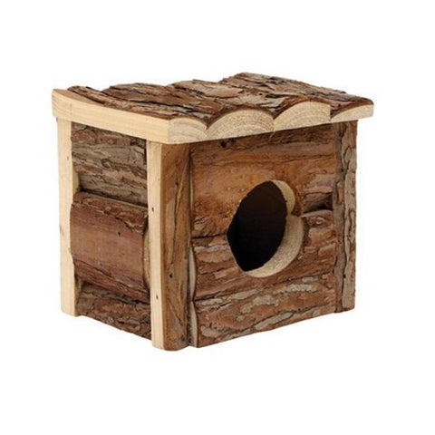 Living World Tree House Real Wood Cabin-Accessories-Living World-Small-Petland Canada
