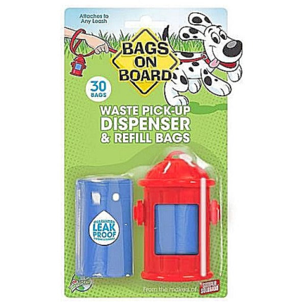 Bags On Board Red Fire Hydrant Dispenser-Outdoor-Bags on Board-Default-Petland Canada