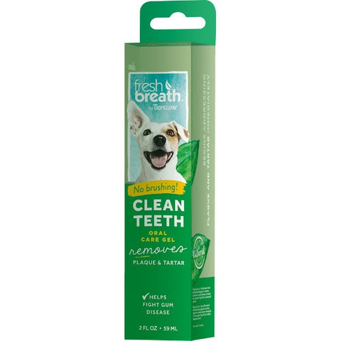 Tropiclean Fresh Breath Clean Teeth Oral Care Gel; available in different styles