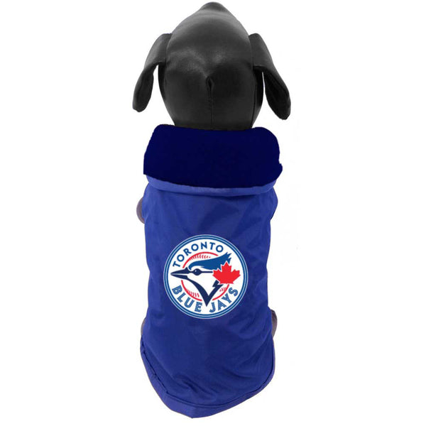 Toronto Blue Jays All Star MLB Fleece Lined Coat; available in several sizes.-Clothes & Boots-All Star Dogs-Petland Canada