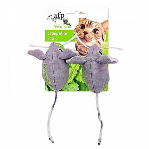 afp Green Rush Catnip Mice Toys 2 Pack