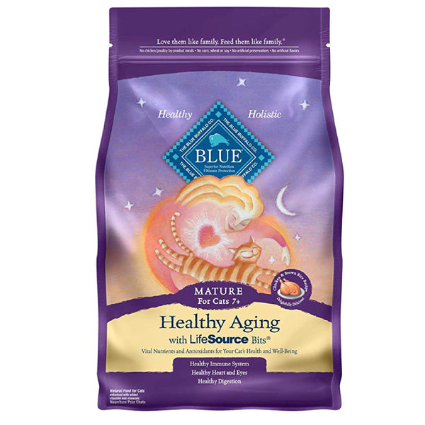 Blue Mature Cat Healthy Aging Formula 7 lb-Food Center-Blue Buffalo Co.-Default-Petland Canada