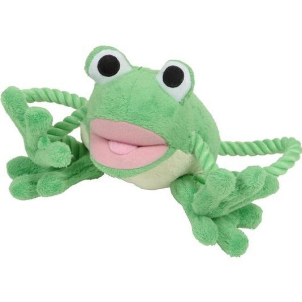 Dogit Luvz Puppy Toys w/Rope Feature; Available in 3 styles-Toys-Dogit-Baby Frog-Petland Canada