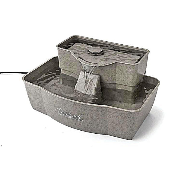 Drinkwell Rectangle Multi Level Plastic Fountain