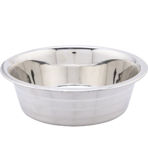 Kumar Stainless Steel Silver Stripe Dog Dish