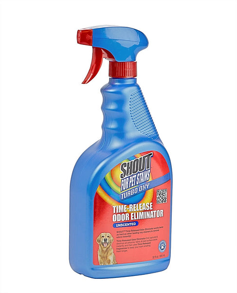 Shout Pets 32oz Turbo Oxy Unscent Odor Eliminator
