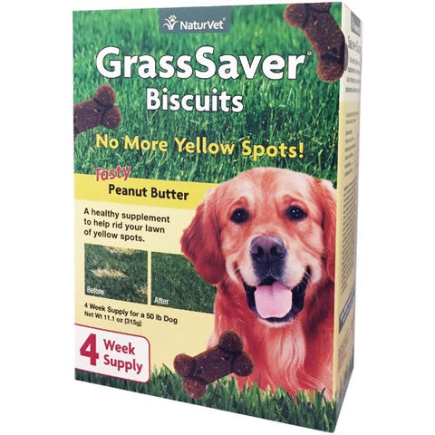 NaturVet Grass Saver Tasty Peanut Butter Biscuits For Dogs (315g.)