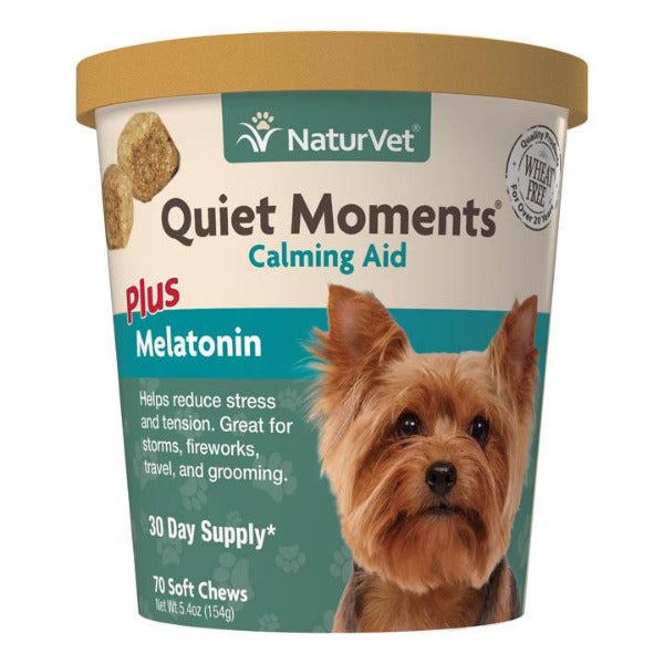 Naturvet Quiet Moments Calming Aid with Melatonin Soft Chews For Dogs (70ct.)