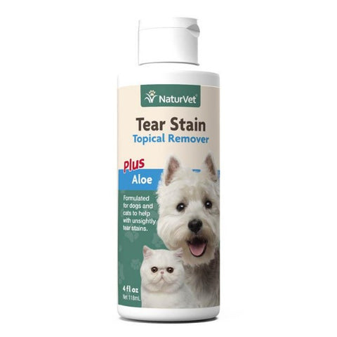 NaturVet Topical Tear Stain Remover Plus Aloe For Dogs & Cats (4 fl. oz.)