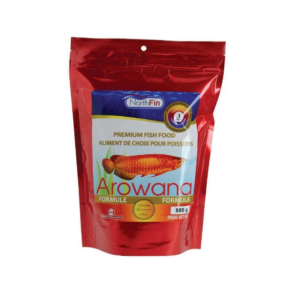 NorthFin Arowana Premium Fish Food; available in different sizes-Food-NorthFin-3 mm, 500 g package-Petland Canada