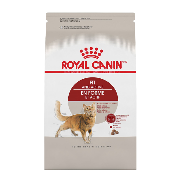 Royal Canin Fit & Active Adult Dry Cat Food; Available in 3 Sizes