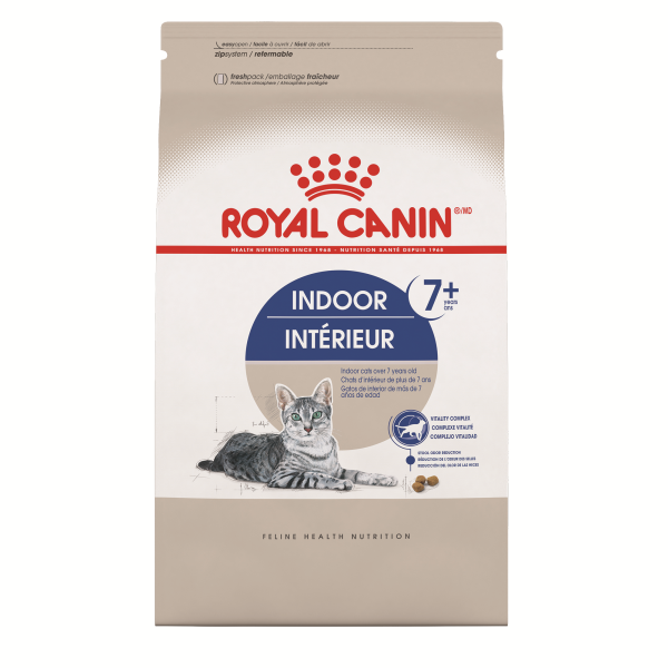 Royal Canin Indoor Adult  7+ Dry Cat Food; Available in 2 Sizes