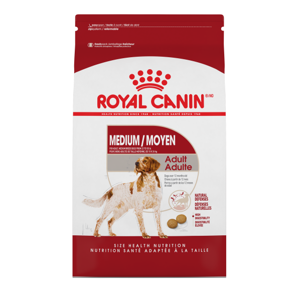 Royal Canin MEDIUM Breed Adult Formula; Available in 2 sizes-Food Center-Royal Canin-Petland Canada