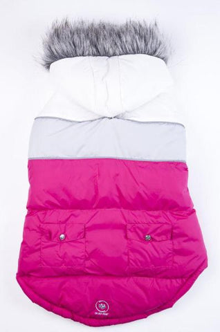 Silver Paw Combo Fuschia Combo Reversible Pr3 Jacket-Clothes & Boots-Silver Paw-Petland Canada