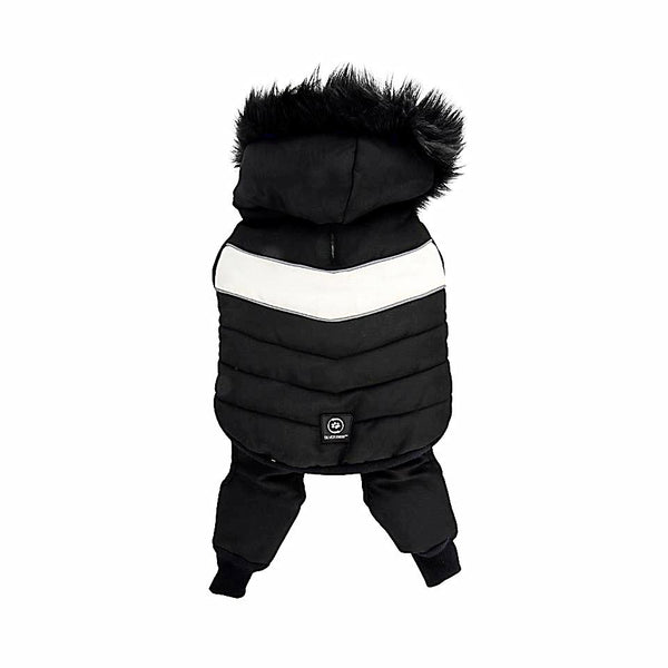 Silver Paw 2 Piece Snow Suit-Clothes & Boots-Silver Paw-Black-XSmall-Petland Canada