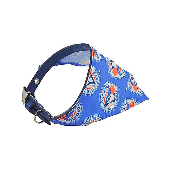Silverpaw Bandana Collar, Toronto Blue Jays; available in 3 sizes
