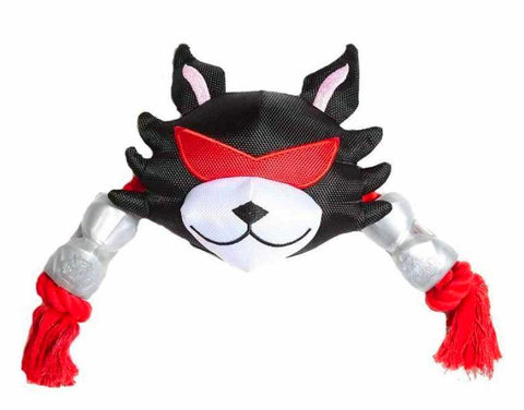Crusha Animal Head Double Rope Dog Toy; available in different styles-Toys-Silver Paw-Cat Head-Petland Canada