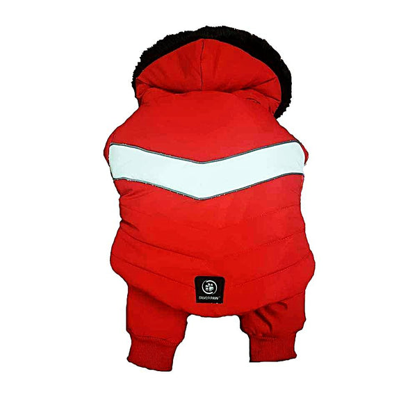 Silver Paw 2 Piece Snow Suit-Clothes & Boots-Silver Paw-Red-XSmall-Petland Canada