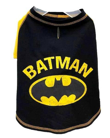 DC Comics Batman T-Shirt for Dogs-Clothes & Boots-Silver Paw-Petland Canada