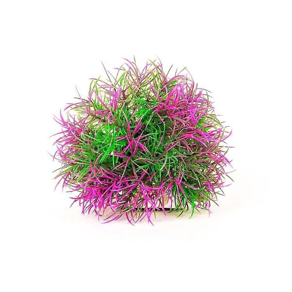 Aquatop Ball Plant with Weighted Base; available in different colours-Decor-Aquatop-PDT30 Purple/Green-Petland Canada