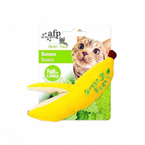 afp Green Rush Banana Catnip Toy