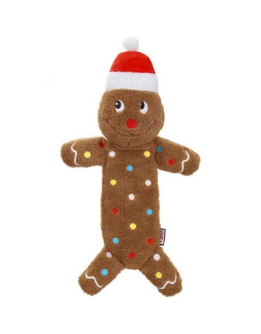 KONG Holiday Low Stuff Speckles Gingerbread Man Lg Dog Toy