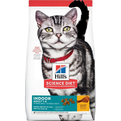 Science Diet Feline Adult Indoor; Available in 3 sizes