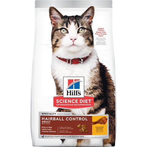 Science Diet Feline Adult Hairball Control; Available in 2 sizes