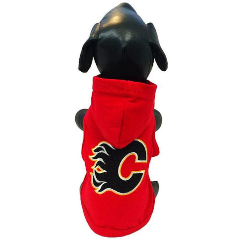 All Star NHL Calgary Flames Hooded Shirt; available in several sizes.