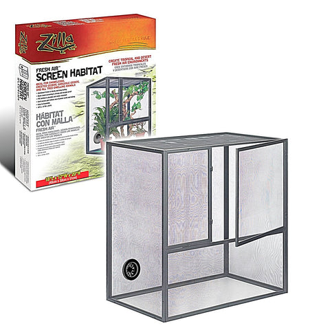 Zilla Cage Fresh Air Screen 18x12x20in-Habitats-Cichlid-Petland Canada