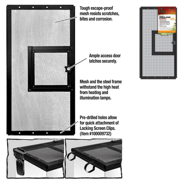 Zilla Cover Screen Metal Door Blk 20x10 Each