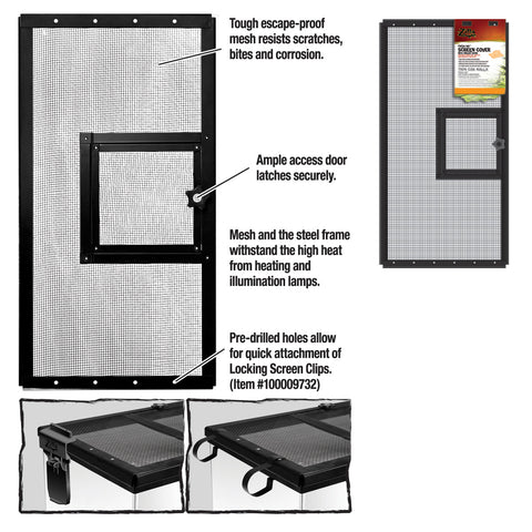 Zilla Cover Screen Metal Door Blk 24x12 Each