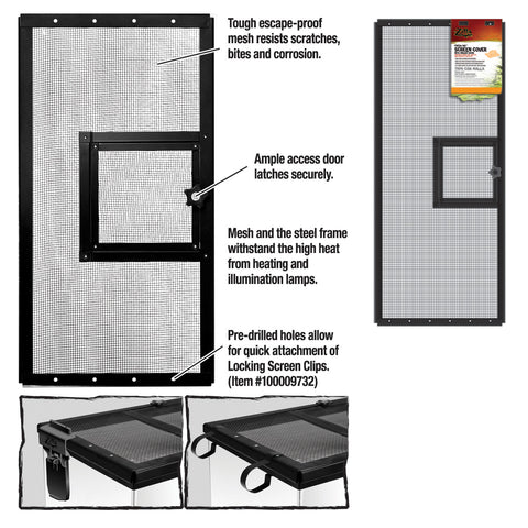Zilla Cover Screen Metal Door Blk 30x12 Each