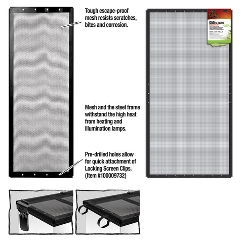 Zilla Cover Screen Metal Blk 36x18in