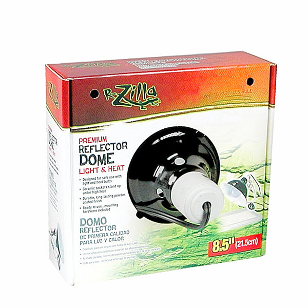 Zilla Dome Reflector Ceramic Box 8.5in Black