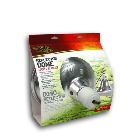 Zilla Dome Reflector Slvr Ceramic 5.5in-Heating & Lighting-Cichlid-Petland Canada