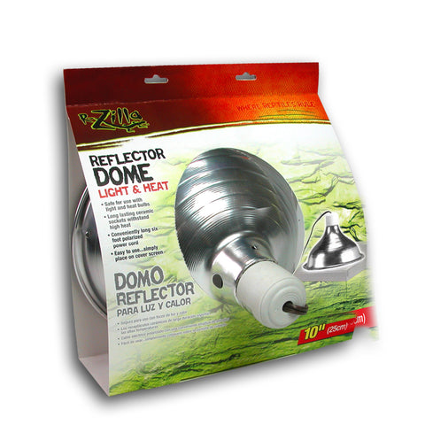 Zilla Dome Reflector Slvr Ceramic 8.5in-Heating & Lighting-Cichlid-Petland Canada