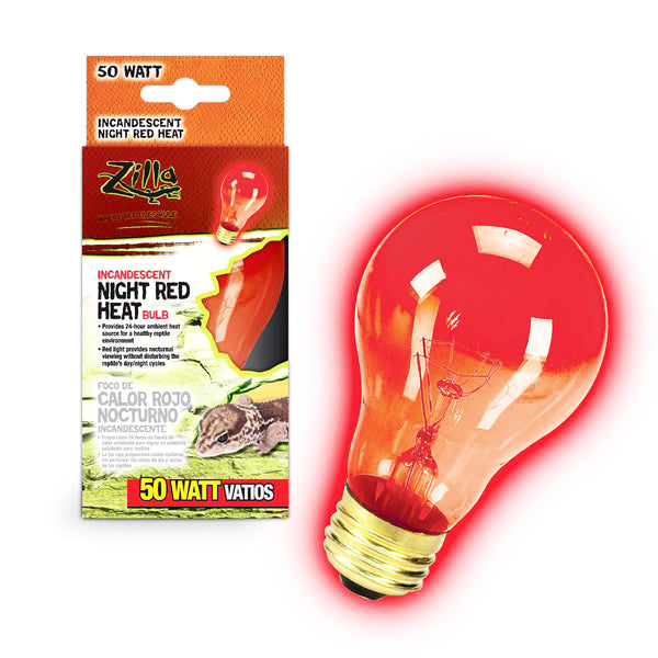 Zilla Bulb Reptile 50w Inc Night Red Boxed-Heating & Lighting-Cichlid-Petland Canada