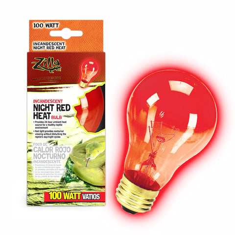 Zilla Bulb Reptile 100w Inc Night Red Boxed-Heating & Lighting-Cichlid-Petland Canada