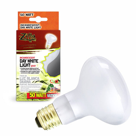 Zilla Bulb Reptile 50w Day White Spot Boxed-Heating & Lighting-Cichlid-Petland Canada