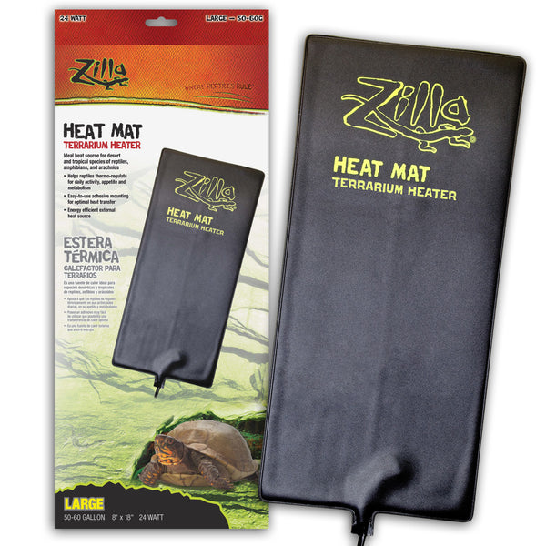 Zilla Heat Mat Large 50-60gal 24watt (8x18in)-Heating & Lighting-Cichlid-Petland Canada