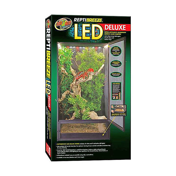 Zoo Med ReptiBreeze LED Deluxe Screen Cage Extra Large-Habitats-Zoo Med-Petland Canada