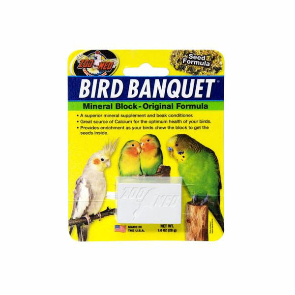 Zoo Med Bird Banquet Mineral Block Original; available in 2 sizes