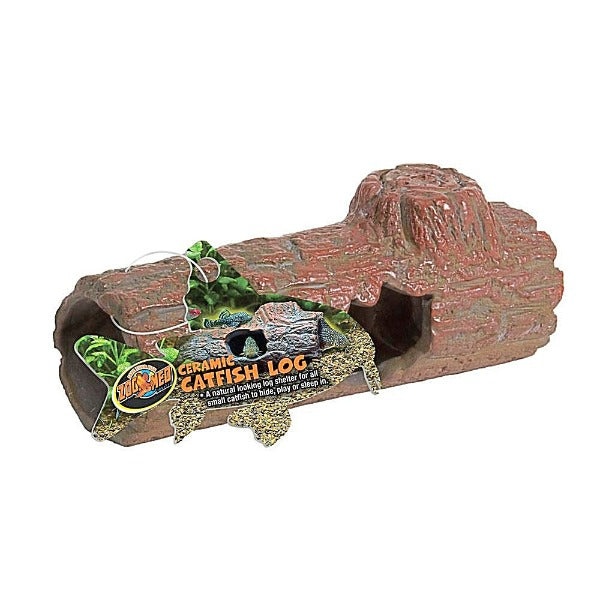 Zoo Med Ceramic Catfish Log