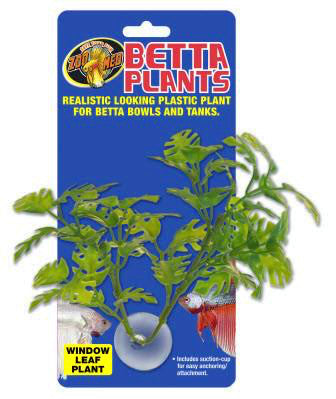 Zoo Med Betta Plant; available in different styles-Decor-Zoo Med-Window Leaf-Petland Canada