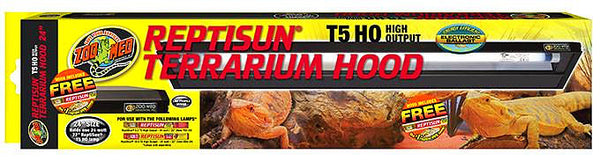 Zoo Med Reptisun T5 High Output Terrarium Hood; available in different sizes