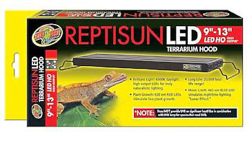 Zoo Med Reptisun LED HO Terrarium Hood; available in 3 sizes