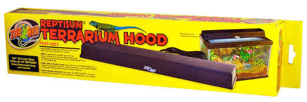 Zoo Med Reptisun Terrarium Hood; available in different sizes.
