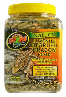 Zoo Med Natural Bearded Dragon Food Juvenile; available in 2 sizes