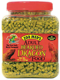 Zoo Med Natural Bearded Dragon Food Adult; available in 2 sizes.